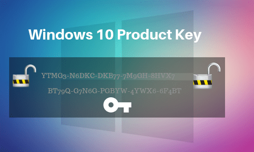 Product keys for Windows 10